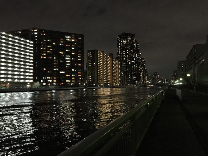 豊洲運河夜