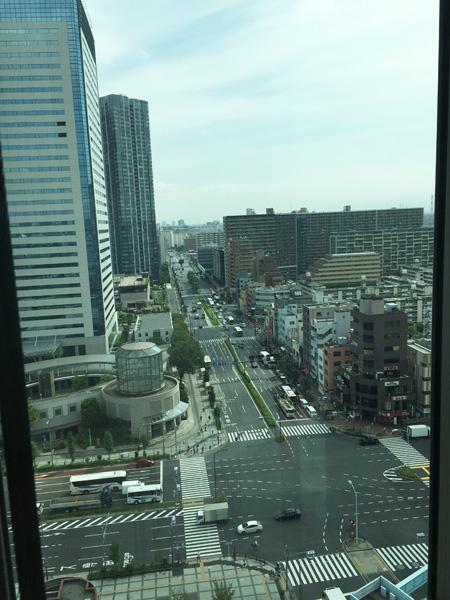 シビックセンターエレベーターからの風景