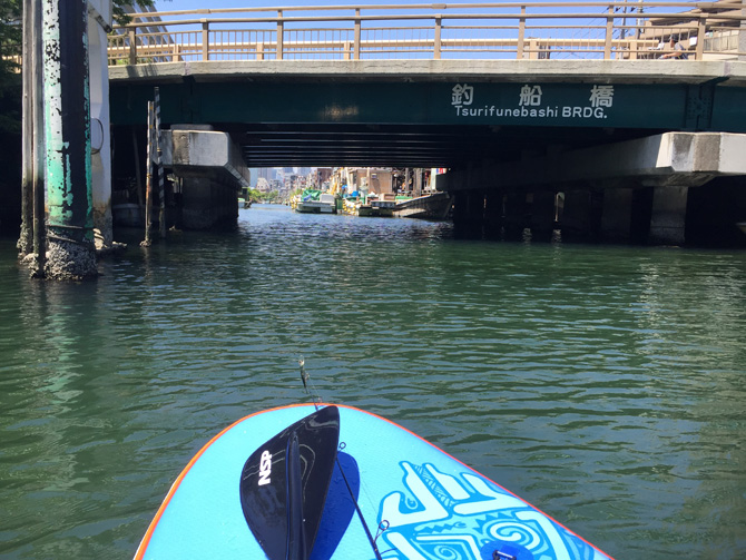 釣船橋に接近