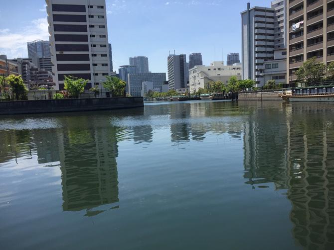 釣船橋のある運河へ