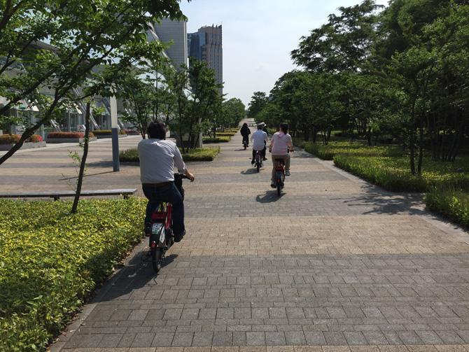 自転車で出発