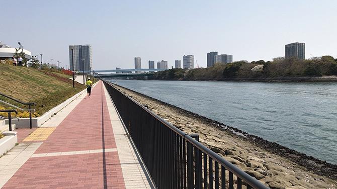 富士見橋を過ぎたあたり