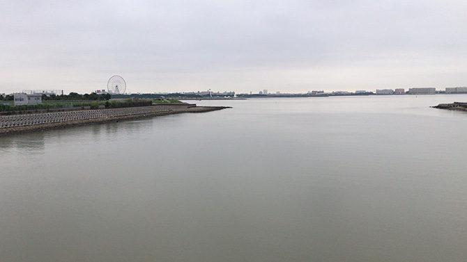 若洲大橋から荒川へ