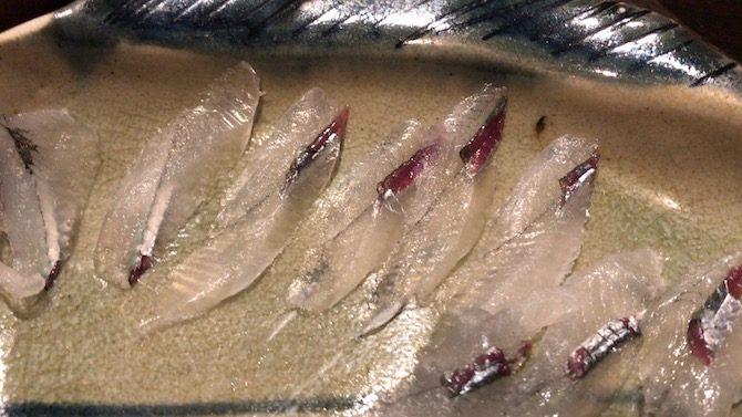 サヨリの刺身
